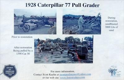 Cat 77 Pull Grader - Fort Missoula, MT - Preserved Machines on