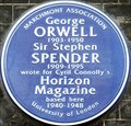 Image for George Orwell and Sir Stephen Spender - Lansdowne Terrace, London, UK
