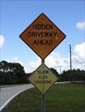 Image for Slow Elks Crossing Sign - Port Charlotte, Florida, USA