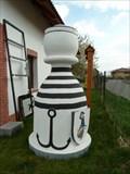 Image for Karlštejnské šachy (13) - bílý pešec / Chess of Karlstein castle - white pawn (Orech, Czech Republic)
