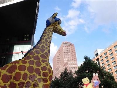 Max & Tibärius at LEGO Giraffe - Legoland Discovery Center, Berlin, D