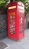 Image for Red telephone box and community-run library, Lewisham, London, UK