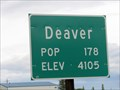 Image for Deaver, Wyoming - Population 178