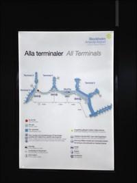 Terminal Map, Arlanda Airport, Stockholm, Sweden