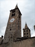 Image for Romanesque cathedral towers - Aosta, Italy