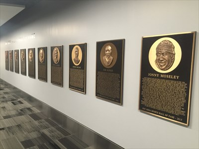 Bay Area Sports Hall of Fame Plaques, From the Right, SFO, Millbrae, California