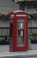 Image for Red Telephone Box -- South end Blackfriar's Bridge, London, Southwark, UK