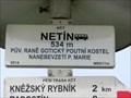 Image for Elevation Sign - Netin, Czech Republic. 534m