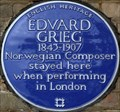 Image for Edvard Grieg - Clapham Common North Side, London, UK