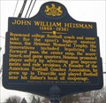 Image for John William Heisman - Titusville, PA
