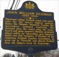 Image for John William Heisman - Titusville, PA
