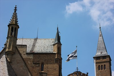 The Prince's flag is flown above the castle when the family is in residence.