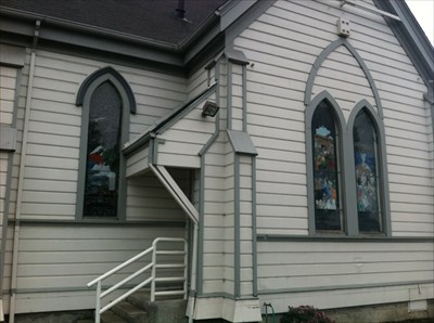 Stained Glass Windows on Side, San Lorenzo, CA