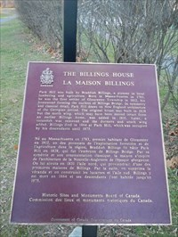Within days, this plaque will be covered (and protected?) by snow!  The Billings Estate Museum will rest over the winter.