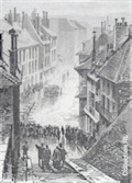 Image for Inondation - 18 janvier 1875 - Place de la Brigade de Savoie - Chambéry, Savoie, France