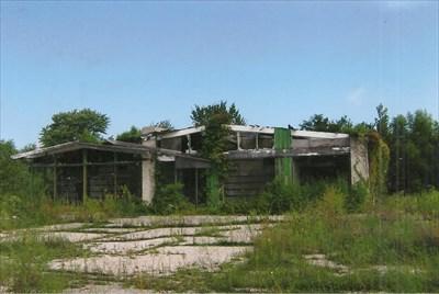 long abandoned large gas station