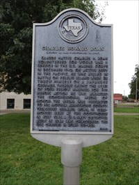 Texas Historical Marker on the grounds of the Armstrong County Courthouse.