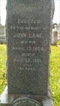 Image for John Lane - Old City Cemetery, Galveston, TX