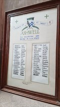 Image for Card Roll of Honour - St Mary - Ashwell, Rutland