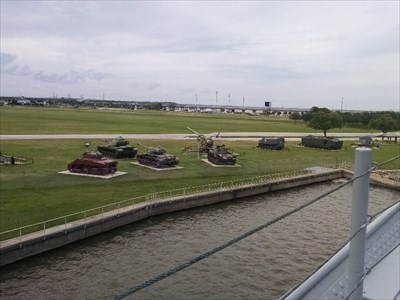 M42A1 Duster Tank, as seen with the other tanks in the display from aboard the USS Alabama, by MountainWoods