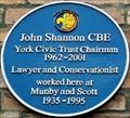 Image for John Shannon CBE - Blake Street, York, UK