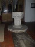 Image for Baptismal Font, St Mary the Virgin's Church, Higham, Suffolk. CO7 6JY.