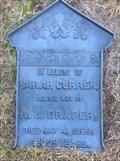 Image for Sarah (Curren) Draper - Corkery Cemetery, Huntley, Ontario