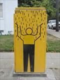 Image for Man Welcoming Rain - Emeryville, CA