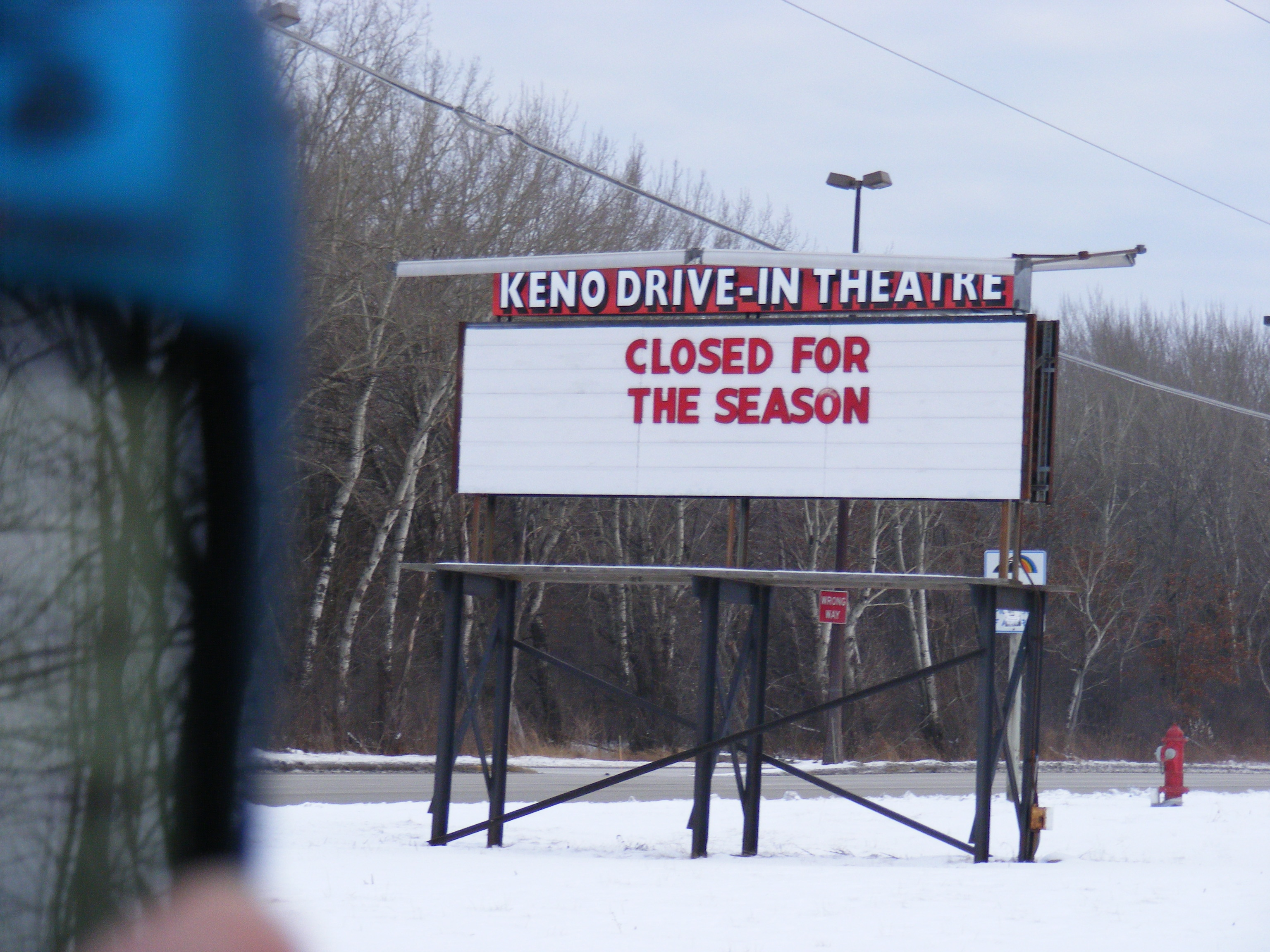 Keno drive in closing