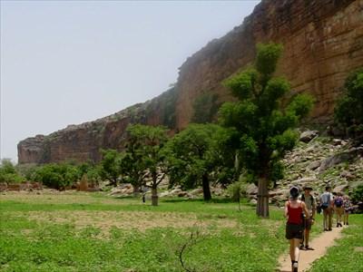 Walking through the valley
