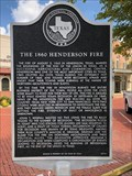 Image for The 1860 Henderson Fire