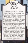 Image for Henderson Street Historical Marker