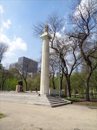 Freestanding Column - Abraham Lincoln statue -  Grant Park, Chicago, Illinois, USA.