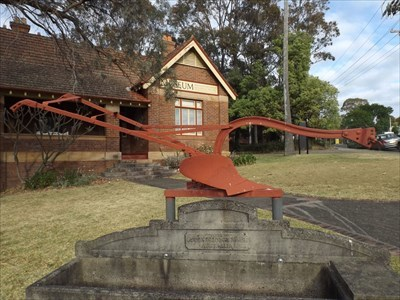 The plough, outside the Shoalhaven Historical Society Museum, on Kinghorne Street.0810, Monday, 2 October, 2017