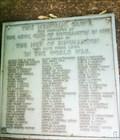 Image for Memorial Grove for Men in the World War - Binghamton, NY