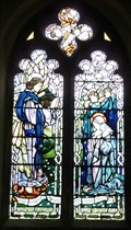 Image for Stained Glass Windows - St Swithin's Church, High Street, Sandy, Beds.