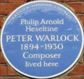 Image for Peter Warlock - Tite Street, London, UK