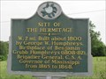 Image for Site of the Hermitage - Port Gibson, MS