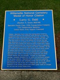 Image for Willamette National Cemetery Medal of Honor Citation: Larry G. Dahl - Portland, Oregon