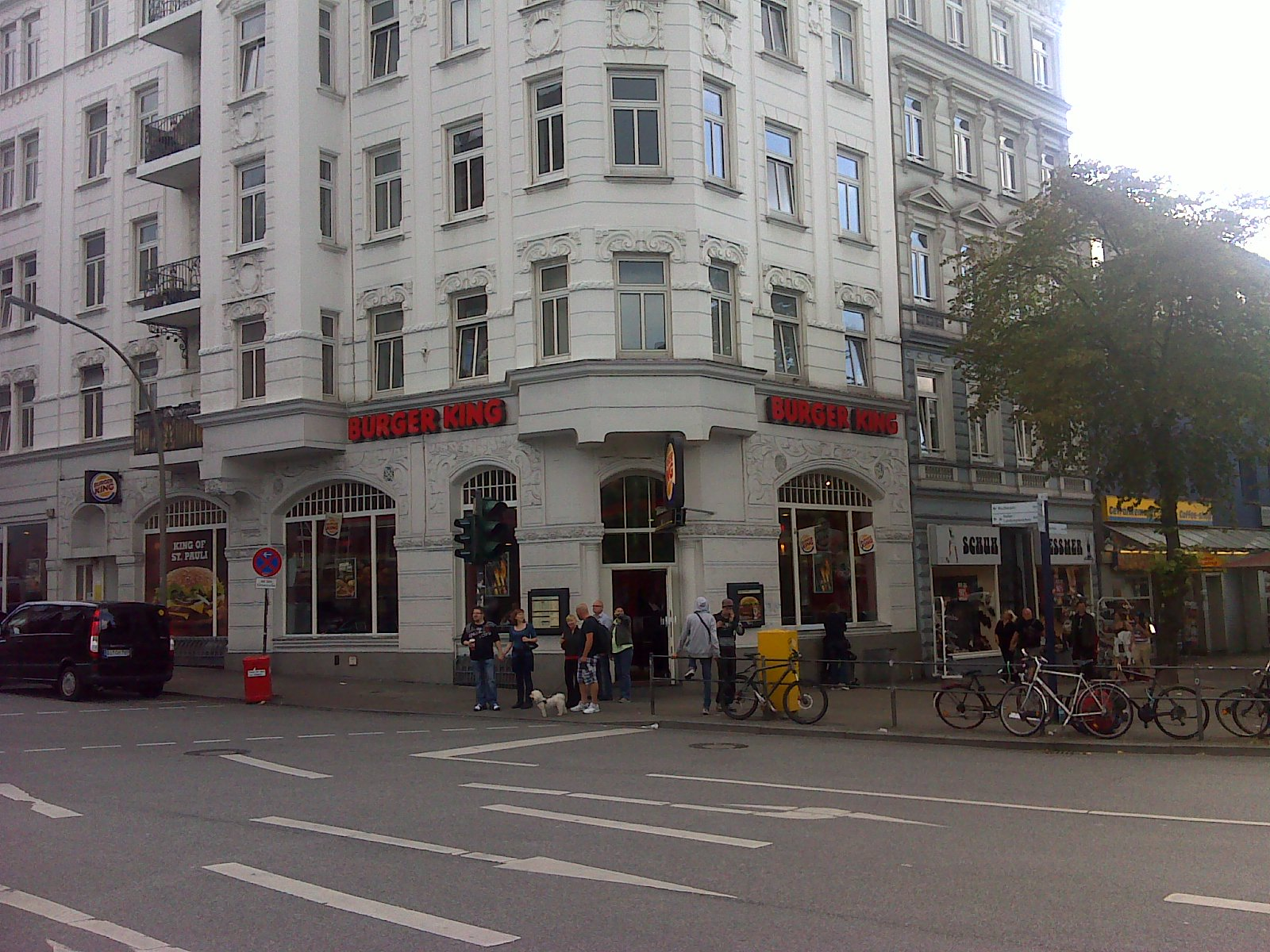 burger king reeperbahn st pauli hamburg germany image. Black Bedroom Furniture Sets. Home Design Ideas