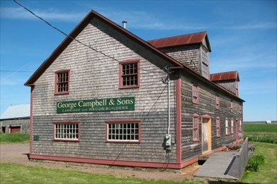 Exterior of the Campbell Carriage Factory Museum