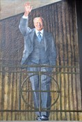 Image for Waving 'Gerald Ford' - Mural - Ann Arbor, Michigan.