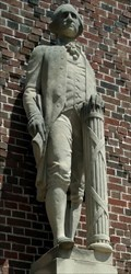 Image for St. Andrew School George Washington statue - Chicago, IL