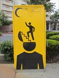 Image for Man Climbing Stairway Out of Head - Emeryville, CA