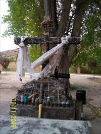 Cross in Courtyard at El Santuario de Chimayo