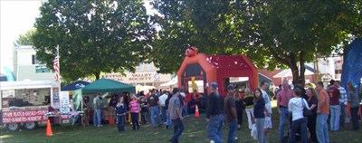 One of the famous children's activities at Pumpkinfest.