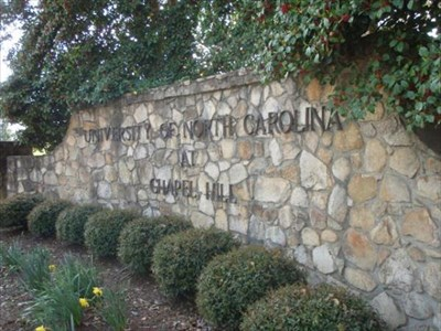 University of North Carolina Chapel Hill -- located at East edge of Campus on South Road
