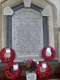 Image for Combined War Memorial, Church of St. Peter & St. Paul, Bardwell, Suffolk. IP31 1AH