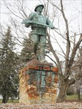 "Image for ""Repaired"" Spirit of the Doughboy Statue from mold - Vestal Hills Memorial Park, Vestal, NY"