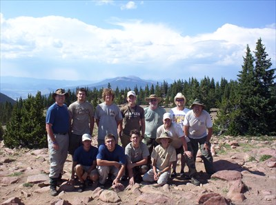 Crew 714/A2 on top of Mt. Phillips July 21, 2005